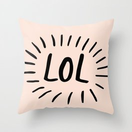 Live And Laugh Throw Pillow
