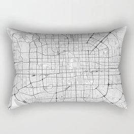 Beijing,China City Map with GPS Coordinates Rectangular Pillow