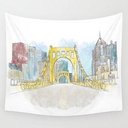 Roberto Clemente Bridge Wall Tapestry