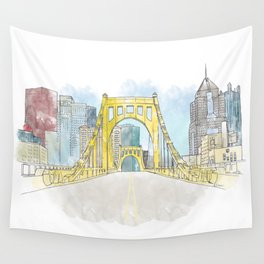 Roberto Clemente Bridge Wall Tapestry