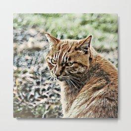 Toony Cat Metal Print