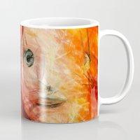 redhead Mugs featuring brave RedHead  by Julia Kovtunyak