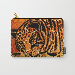 Sketched Indian Bengal Tiger Carry-All Pouch