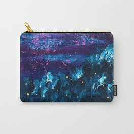 Navy and Purple Abstract Landscape, Cloudy Sky Carry-All Pouch