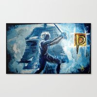 peter pan Canvas Prints featuring Peter Pan by ANoelleJay