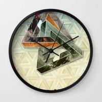 escher Wall Clocks featuring escher hitch by Vin Zzep