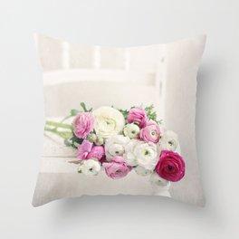 Playful Petals Throw Pillow
