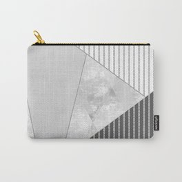 Valencia 4. Abstract grey, white geometric pattern. Carry-All Pouch