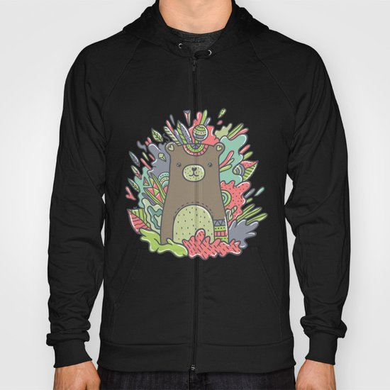 Abstract Bear Hoody