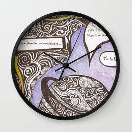 L'HUMANITE CE FLEAU  Wall Clock