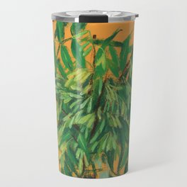 Ash Tree, Floral Painting, Summer Plants, Green Leaves Travel Mug