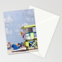 South Beach Lifeguard Station Stationery Cards