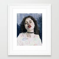 sky ferreira Framed Art Prints featuring Sky Ferreira II by Jethro Lacson