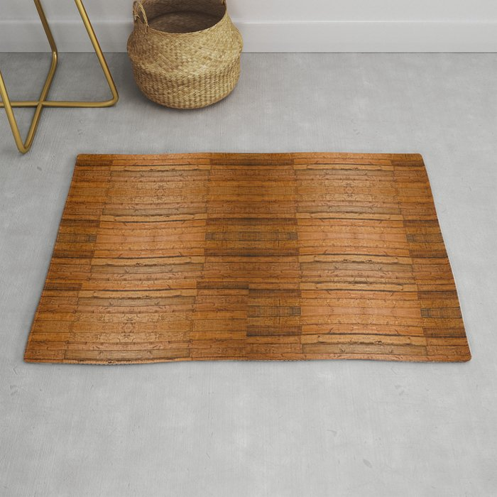 Rustic Wooden Boards I Photo Sampled Wood Rug By Skyeryanevans