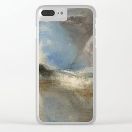 """J.M.W. Turner """"Rockets and Blue Lights (Close at Hand) to Warn Steam Boats of Shoal"""" Clear iPhone Case"""