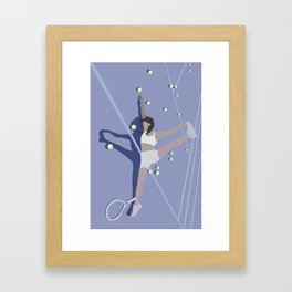 When Tennis is Just 2 Much Framed Art Print