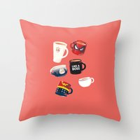 persona Throw Pillows featuring Workday Persona  by vonhagee