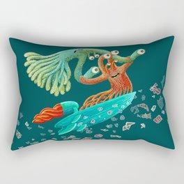 Surfing Monsters Rectangular Pillow