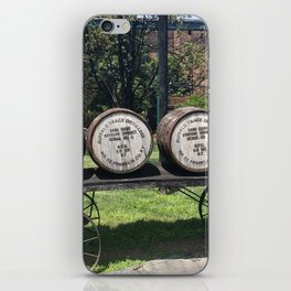 Antique Wagon with Bourbon Barrels iPhone Skin