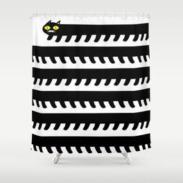 Cryptid Long Cat Shower Curtain