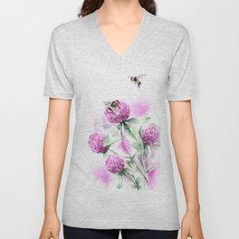 Clover Flower Unisex V-Neck