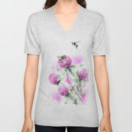 Clover Flower Unisex V-Neck
