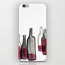 Wine Bottles 2 iPhone Skin