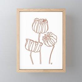 Seed Pods Botanical Print (Terracotta and White) Framed Mini Art Print