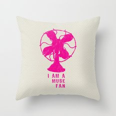 i am a muse fan Throw Pillow