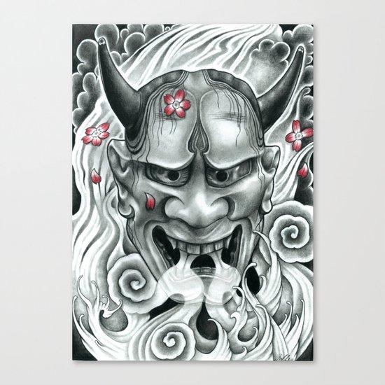 Hannya Mask Canvas Print