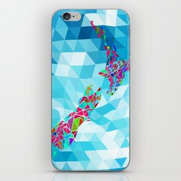 New Zealand Map : Square iPhone Skin