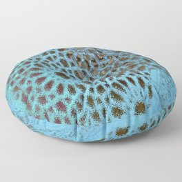Moroccan Blue Stained Glass effect Floor Pillow