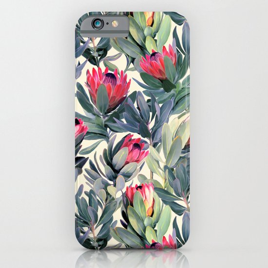 Painted Protea Pattern iPhone & iPod Case
