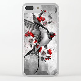 swallows and sakuras Clear iPhone Case