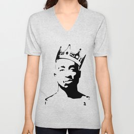 PORTRAIT OF THE BEST RAPPER OF ALL TIMES Unisex V-Neck