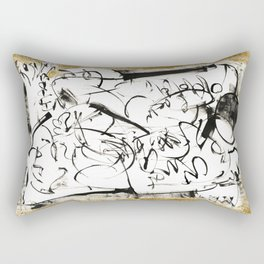 Things to Carry - b&w Rectangular Pillow