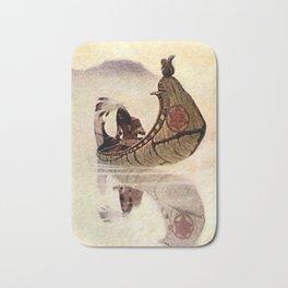 """N C Wyeth Vintage Western Painting """"Hiawatha"""" Bath Mat"""
