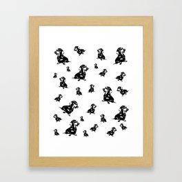Dachshund Dog, Wiener Dog, Sausage Dog, Doxie, Daxie, Framed Art Print