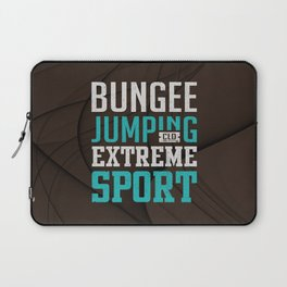 Bungee Jumping Extreme Sport Laptop Sleeve