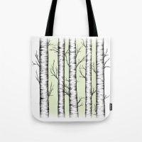 wonderland Tote Bags featuring Wonderland by Barlena