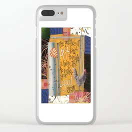 Art and Soul Clear iPhone Case