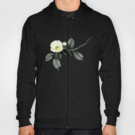 White camellia sumi ink and japanese watercolor painting Hoody