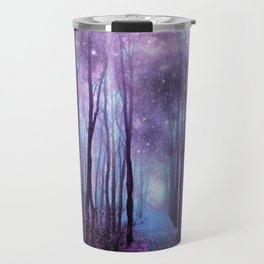 Fantasy Forest Path Muted Violet Travel Mug