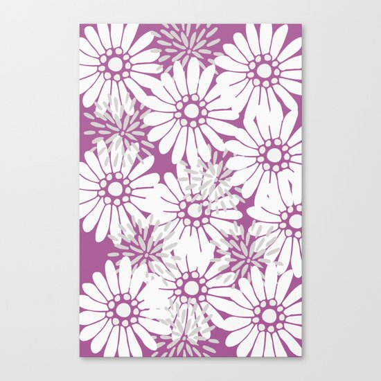 Summer Flowers Purple Canvas Print
