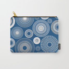Circles Classic Blue Carry-All Pouch