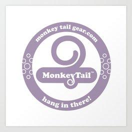 Monkey Tail Gear Logo - 002 Purple Art Print