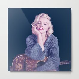 Marylin Monroe Pastel color Print Poster06 Metal Print