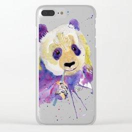 Purple Panda Bear Clear iPhone Case