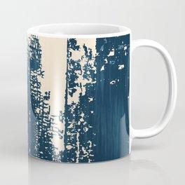 Grunge Paint Flaking Paint Dried Paint Peeling Paint Blue Beige Navy Coffee Mug