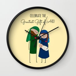 The Christmas Family Wall Clock